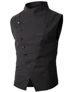 Doublju Mens Slim Vest  with Asymmetry Button BLACK (US-M) Doublju,http://www.amazon.com/dp/B0050MZOO0/ref=cm_sw_r_pi_dp_fjw-sb0SXPAY6T27