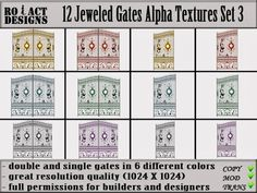 Ro!Act Designs 12 Jeweled Gates Alpha Textures Set 3