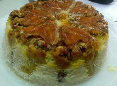 Chicken Rice cake ته چین مرغ با زعفران T.Tavakoli.V