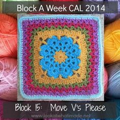 Block 15: More V's Please {Photo Tutorial} - Look At What I Made #crochet #afghan