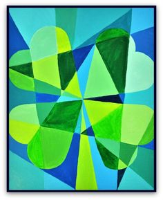 Kids can create a St Patrick s Day abstract art project inspired by Irish artist Mary Swanzy Name Art Projects, Art Club Projects, Toddler Art Projects, Clover Painting, Saint Patricks Day Art, Abstract Art For Kids, Cubist Art, Culture Art, Irish Art