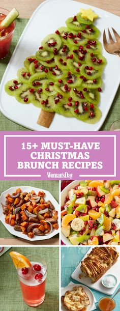 Kick-off Christmas with these delicious brunch ideas for the entire family! It'll really be home for the holidays when you create a delicious menu of items like the fruit christmas tree, red velvet pancakes and more! (food and drink menu) Christmas Brunch Menu, Christmas Morning Breakfast, Christmas Appetizers, Christmas Buffet Menu, Christmas Menu Ideas, Christmas Inspiration, Brunch Party, Easter Brunch, Dinner Parties