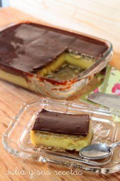 galletas, flan, galletas y flan, tarta de la abuela, tarta clasica de galletas, Julia y sus recetas,