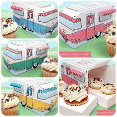 claudine hellmuth: retro camper cupcake box printable kit