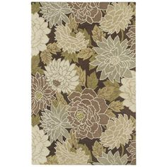 The high-contrast, contemporary pattern of the Kaleen Botany Putina Rug gives the traditional floral pattern a bit of modern polish that's. Floral Area Rugs, Floral Rug, Lowes Rugs, Kaleen Rugs, 4x6 Rugs, Natural Area Rugs, Braided Rugs, Brown Rug, Hand Tufted Rugs