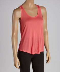 4c4bdabca87b Look at this Neon Coral Racerback Tank on #zulily today! Racerback Tank,  Calves