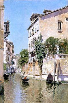 Rio Maria by Martin Rico y Ortega (Spanish, 1833 - 1908)