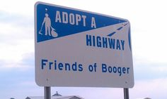 Saw this sign on hwy 47 in Minnesota.  Did a double take as I drove by-backed up & took the pic.  Rock on booger.