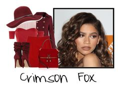 """""""Crimson Fox"""" by tinkerbell06 ❤ liked on Polyvore featuring Coleman, WithChic, Pinko, ESCADA, Henri Bendel and San Diego Hat Co."""