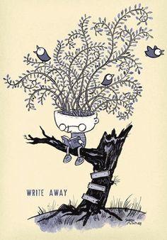 Sprout ideas among the readers / Brotan las ideas entre los lectores (ilustración de Sarah McIntyre)