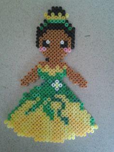 Disney Tiana hama beads by Marie Kli