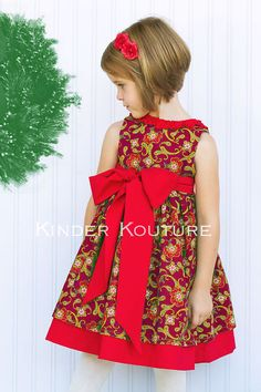 Holly Christmas Dress  Sizes 38 by KinderKouture on Etsy, $68.00