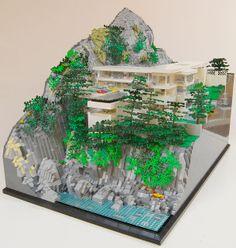 """Villa Amanzi"" in Phuket, Thailand.  2008,  Architects: Original Vision Ltd, Adrian McCarroll, Waiman Cheung, Jamie Jamieson  LEGO Model by Robert Turner.    A beautiful recreation of the modernist masterpiece Villa Amanzi, a 6 bedroom home in Phuket.  More photos at: https://www.flickr.com/photos/rt_bricks/with/11278456696/"