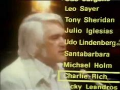 Charlie Rich - The most beautiful girl 1974 Charlie Rich (December 1932 - July was an American Country Music Singer/Musician. Old Country Music, Country Music Videos, Country Music Singers, Country Songs, Good Music, My Music, Music Hits, Charlie Rich, Music Songs