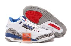 90fe841af4245a Air Jordan 3 GS White True Blue Online For Sale For Womens