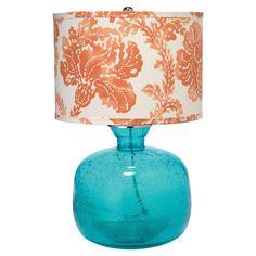 Aqua and Coral Table Lamp