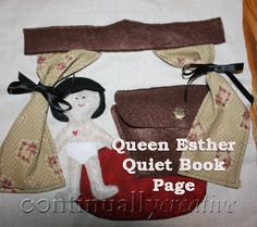 Queen Ester Quiet Book Page Idea and instrucitons