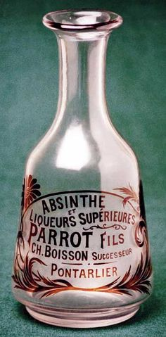 Absinthe Carafes at The Virtual Absinthe Museum: Mugnier, Parrot, Dual-Mouthed Carafe