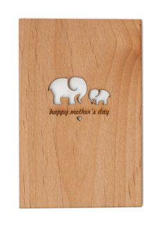 Laser Cut Wooden Card.   Community Post: 10 Original Last Minute Mother's Day Gift Ideas