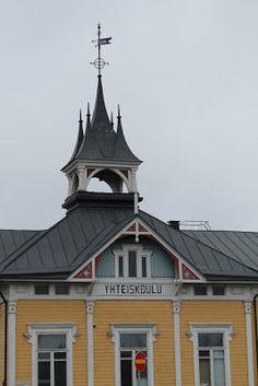 Old Lyceum tower in Kokkola. Central Ostrobothnia province of Western Finland - Keski-Pohjanmaa.