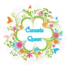 Canasta Queen Printable Download by FlowersByFishprint on Etsy