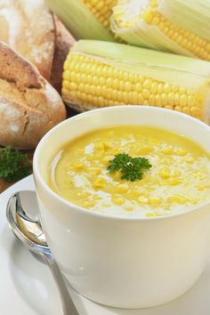 Delicous Soup Recipes ... Fresh Corn Soup #recipe #soup
