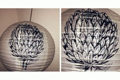 Hand illustrated paper lanterns by Autumn Breeze on hellopretty.co.za