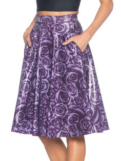 IS - XS - FOR NATALIE - Imperial Rose Pocket Midi Skirt - LIMITED (AU $90AUD / US $72USD) by Black Milk Clothing - IS
