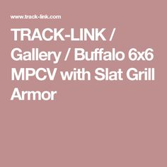 TRACK-LINK / Gallery / Buffalo 6x6 MPCV with Slat Grill Armor