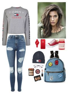 """Untitled #104"" by madisonsierra on Polyvore featuring Topshop, Lime Crime, Tommy Hilfiger, Converse, IMoshion, MAC Cosmetics and NARS Cosmetics"