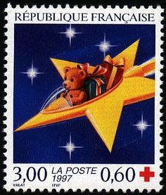 French Christmas stamp 1997