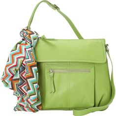 Hadaki Tania Crossbody (1.440 ARS) ❤ liked on Polyvore featuring bags, handbags, shoulder bags, green, pocket tote, tote purses, green purse, crossbody handbag and crossbody shoulder bags