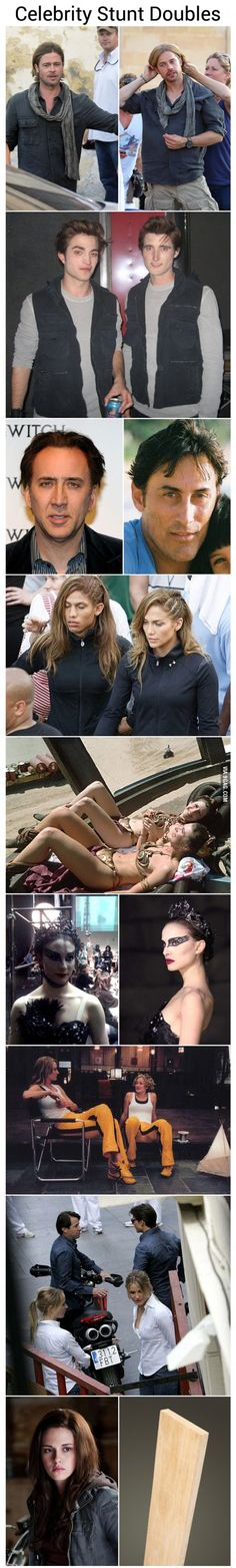 Celebrity stunt doubles
