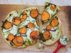 Sweet Potato & Kale Pesto Pizza Main