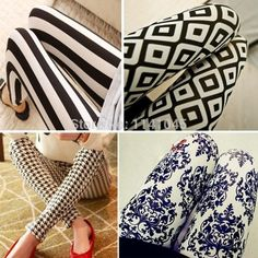 2015 spring and autumn new fashion silk milk nine Leggings dress a issuing Patterned Leggings, Printed Leggings, Women's Leggings, Style Ethnique, Plaid, Dresses With Leggings, Leggings Fashion, Houndstooth, New Fashion