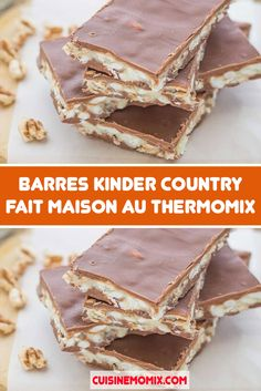 Barres Kinder Country Fait Maison au Thermomix - The Best of Minecraft Skins, Buildings and Houses Creative Desserts, Desserts For A Crowd, Cute Desserts, Party Desserts, Dessert Recipes, Blueberry Desserts, Brownie Desserts, Chocolate Desserts, Desserts With Biscuits