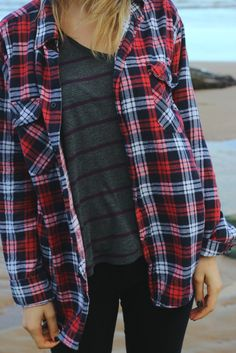 Flannel and stripes. Looking forward to layering up this Fall