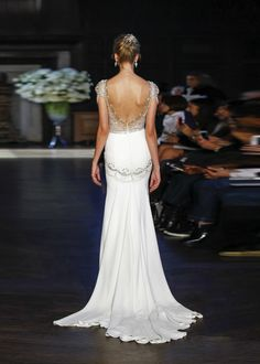 Michelle dress y Alon Livne as seen here from the back. Available to buy in the UK at Les Trois Soeurs Bridal in London