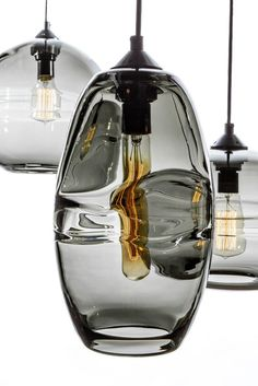 hanging smokey glass light fixture pendant
