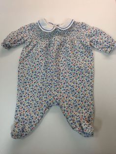 Ralph Lauren Size 3 months floral footed one piece outfit 3M  #love4whimsyresale #ebay