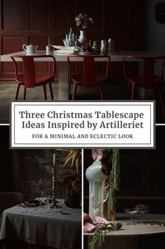 Three Christmas Tablescape Ideas Inspired by Artilleriet Christmas Tablescapes, Christmas Decorations, Simple Christmas, Christmas Holidays, Interior Ideas, Interior Decorating, Christmas Editorial, Swedish Interiors, Swedish Brands