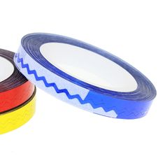 New 1 Pcs 6 Colors Nail Rolls Waves Striping Tape Line DIY 3D Nail Art Tips Decoration Stickers For Nails Care JH236