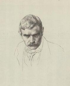 William Strang: Self Portrait, 1898 by William Strang (Scottish 1859-1921)....lithograph