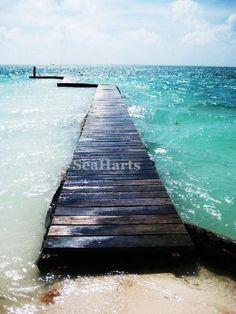Belize Art Caribbean Photography Beach Island Pier by SeaHarts, $25.00