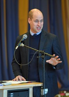 January 31, 2018 Prince William, Duke of Cambridge speaks at Matteusskolan school in Stockholm on day two of their royal visit to Sweden and Norway in Stockholm, Sweden