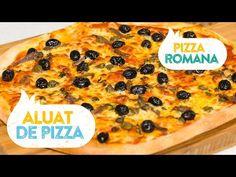 Reteta aluat de pizza rapid si Pizza Romana - YouTube