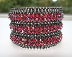 Love to bead and create jewerly?? Find this pattern here:   https://www.etsy.com/listing/116735956/something-pink-cuff-tutorial