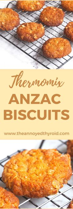 These chewy, delicious Anzac biscuits are so quick and easy in the Thermomix! My Favorite Food, Favorite Recipes, Anzac Biscuits, Thermomix Desserts, Australian Food, Brownie Cookies, Baked Goods, Easy Meals, Snacks