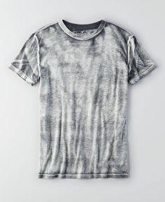 AEO Bleach Wash T-Shirt, Men's, Black