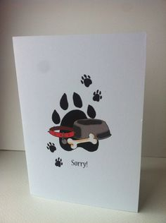 Sorry for your loss, pet card, pet, animal card, sorry, sympathy on Etsy, 3,00 €